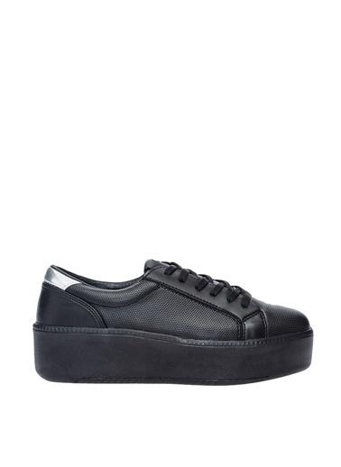 Limon Company 71Tab Düz Topuklu Suni Deri Kadın Ayakkabı Siyah